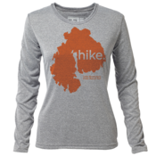 "hike. MDI ""Customize Graphic Color"" - Womens LS Hybrid T"
