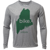 "bike. Maine ""Customize Graphic Color"" - Mens LS Hybrid T"