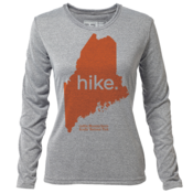 "hike. Maine ""Customize Graphic Color"" - Womens LS Hybrid T"