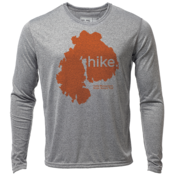 "hike. MDI ""Customize Graphic Color"" - Mens LS Hybrid T"