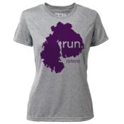 "run. MDI ""Customize Graphic Color"" - Womens SS Hybrid T"