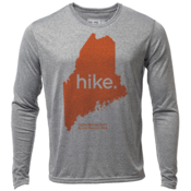 "hike. Maine ""Customize Graphic Color"" - Mens LS Hybrid T"
