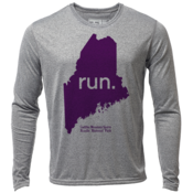 "run. Maine ""Customize Graphic Color"" - Mens LS Hybrid T"