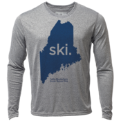 "ski. Maine ""Customize Graphic Color"" - Mens LS Hybrid T"