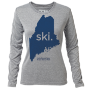 "ski. Maine ""Customize Graphic Color"" - Womens LS Hybrid T"