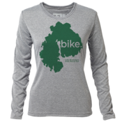 "bike. MDI ""Customize Graphic Color"" - Womens LS Hybrid T"