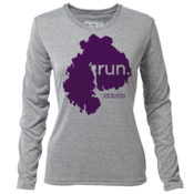 "run. MDI ""Customize Graphic Color"" - Womens LS Hybrid T"