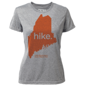 "hike. Maine ""Customize Graphic Color"" - Womens SS Hybrid T"