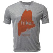 "hike. Maine ""Customize Graphic Color"" - Mens SS Hybrid T"
