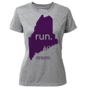 "run. Maine ""Customize Graphic Color"" - Womens SS Hybrid T"